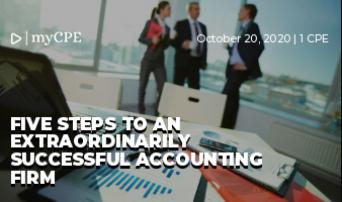 Five steps to an extraordinarily successful accounting firm