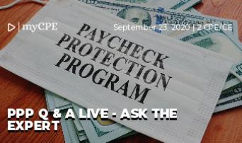 PPP Q & A Live - Ask the Expert