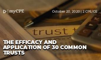The Efficacy and Application of 30 Common Trusts