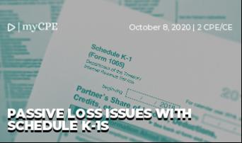 Passive Loss Issues with Schedule K-1s