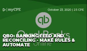 QBO: Banking Feed and Reconciling - Make Rules & Automate