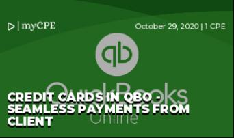 Credit cards in QBO - Seamless Payments from Client
