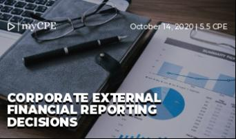 Corporate External Financial Reporting Decisions
