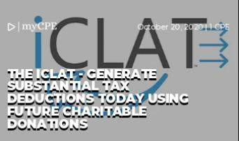 The iClat - generate substantial tax deductions today using future charitable donations