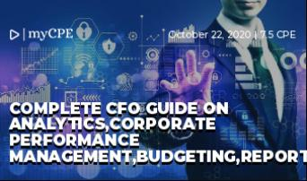 Complete CFO Guide on Analytics,Corporate Performance Management,Budgeting,Reporting