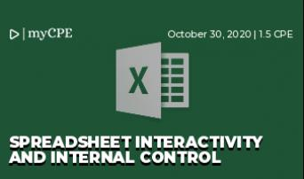 Spreadsheet Interactivity and Internal Control