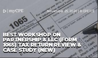 Best Workshop on Partnership & LLC (Form 1065) Tax Return Review & Case Study (NEW)