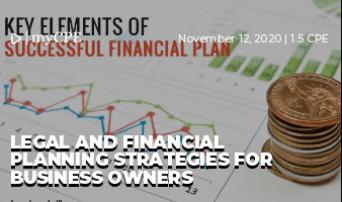 Legal and Financial Planning Strategies for Business Owners