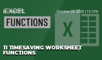 11 Timesaving Worksheet Functions