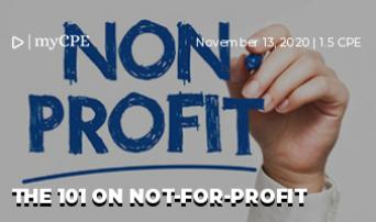 THE 101 ON NOT-FOR-PROFIT