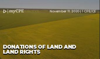 Donations of Land and Land Rights