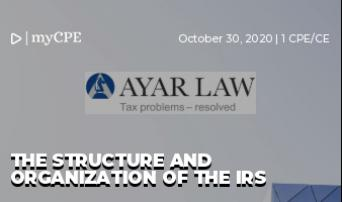 The Structure and Organization of the IRS
