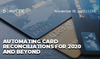Automating card reconciliations for 2020 and beyond