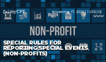 Special Rules for Reporting Special Events (Non-Profits)