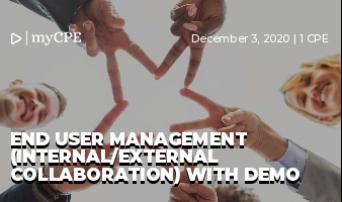 End User Management (Internal/External Collaboration) with Demo