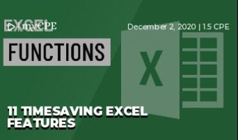 11 Timesaving Excel Features