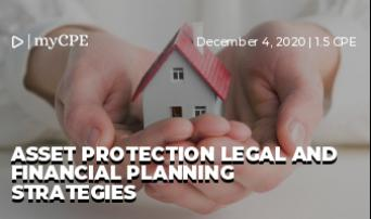 Asset Protection Legal and Financial Planning Strategies