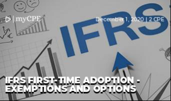 IFRS First-Time Adoption - Exemptions and Options