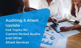 Auditing & Attest Update CPE live webinar