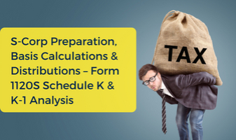 S-Corporation CPE Class for Calculations & Distributions